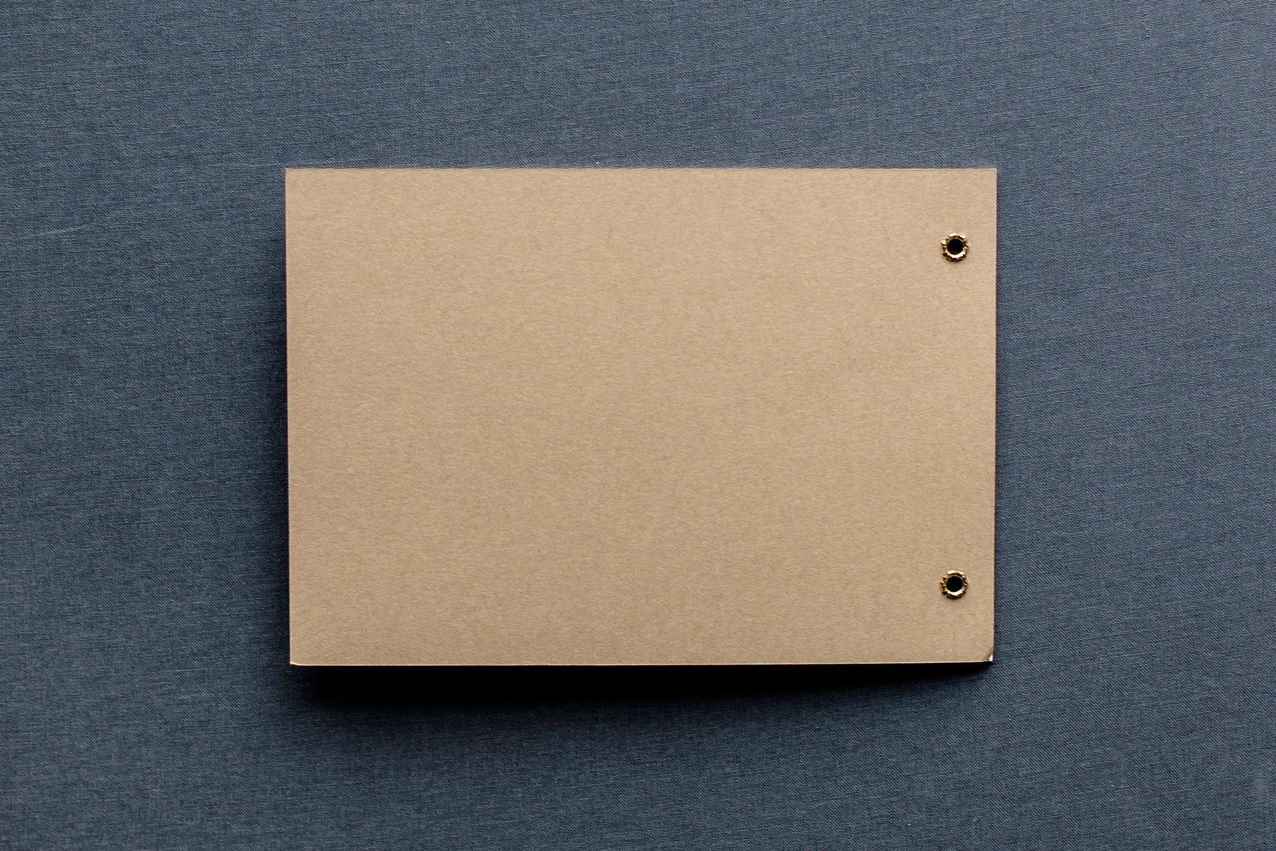 Booklet Einladung, geschlossen, Rückseite
