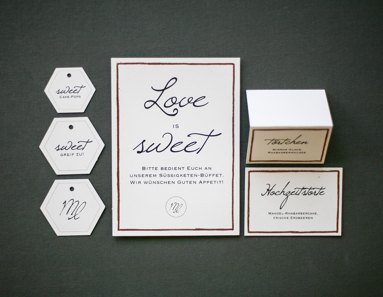 Candytable Papeterie mit Kupferrahmen