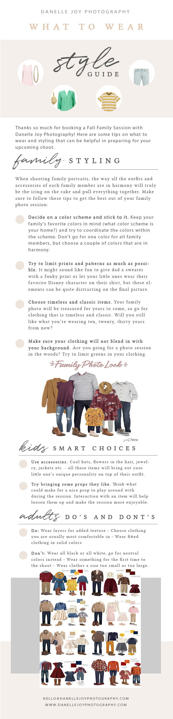 What to wear for Fall Family Photography