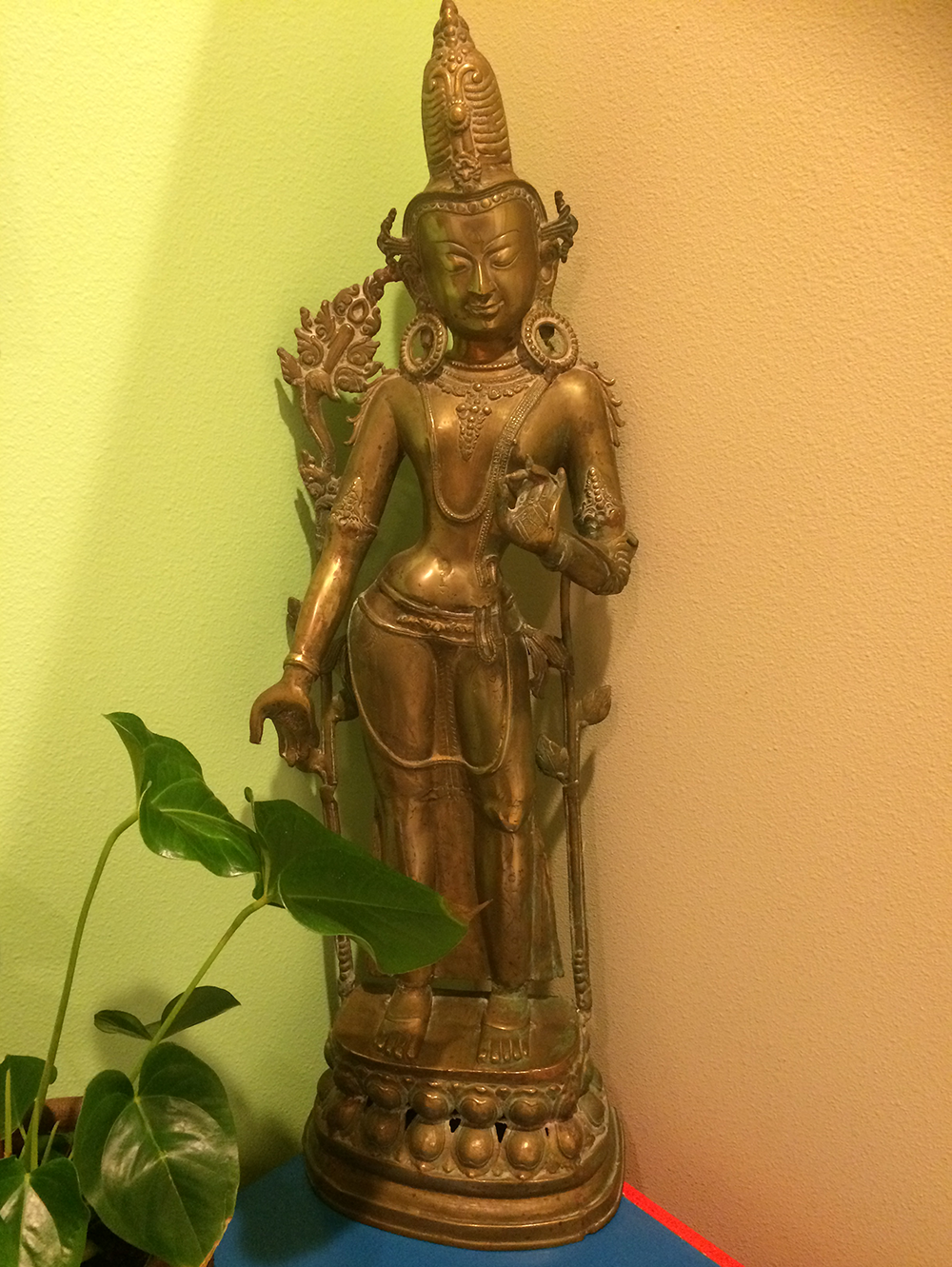 Tara Devi Brass Statue