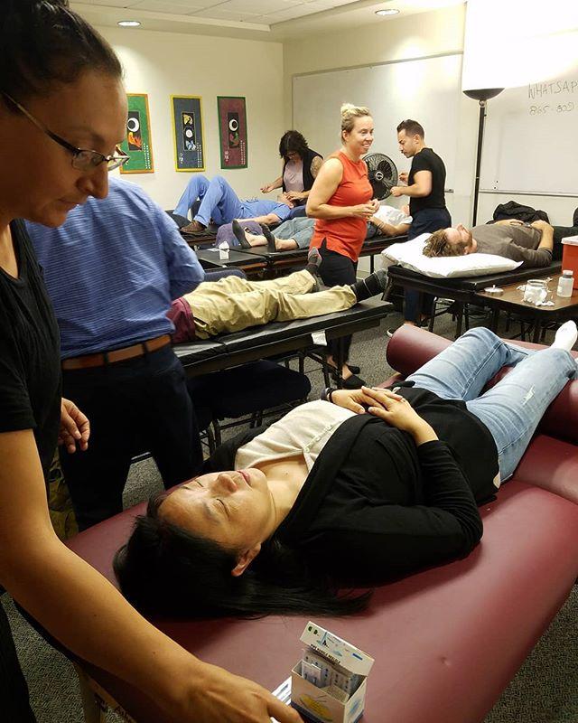2nd and 3rd year students practice scalp acupuncture with Dr. Zheng! 🧠🧠🧠 - - - - - #acupuncture #SIEAM #seattle #georgetownseattle #herbalremedies #naturalremedies  #chinesemedicine #chineseherbs #herbalmedicine #針灸 #針灸學 #中藥
