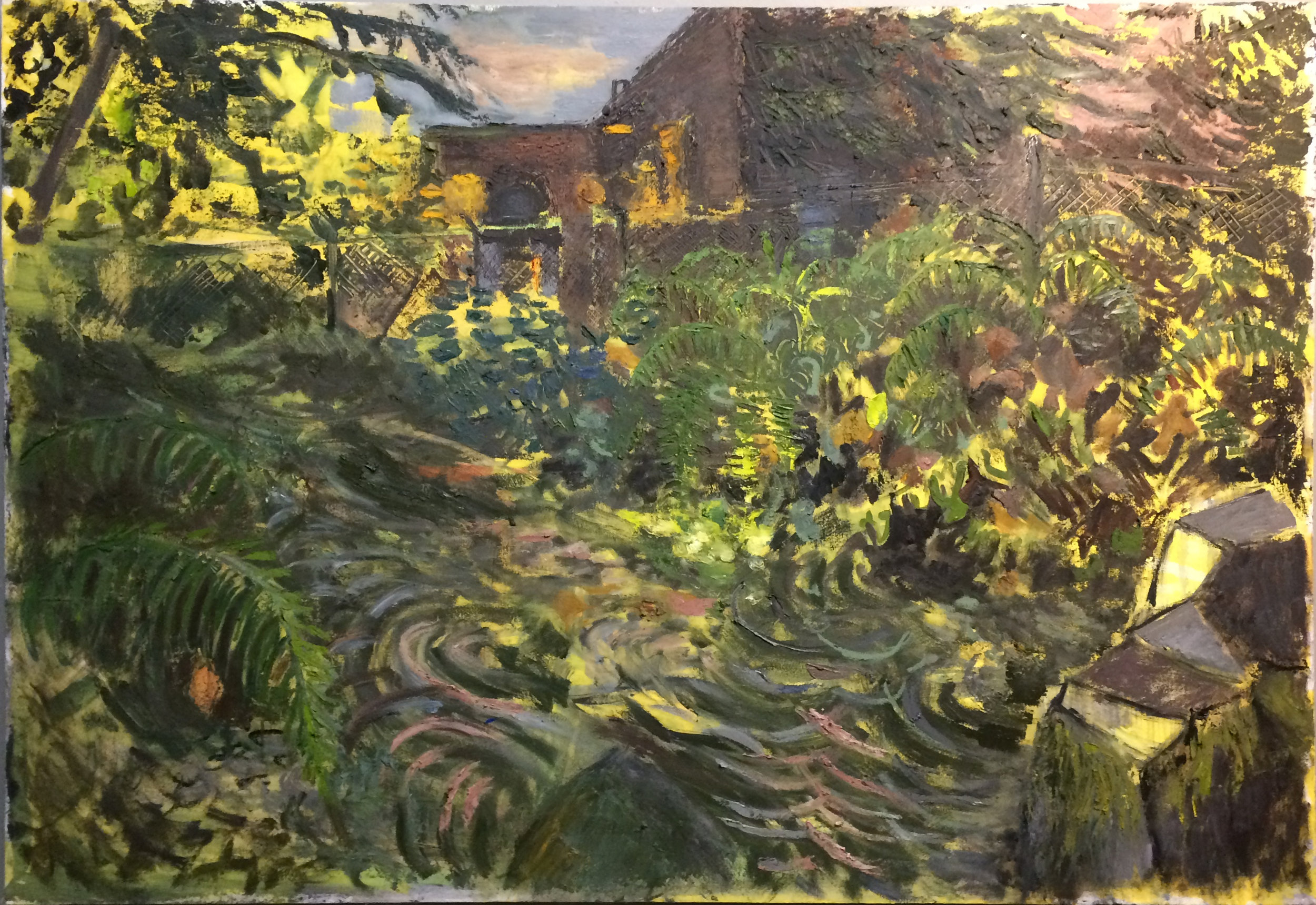Rock Sanctuary, oil on canvas, 2017