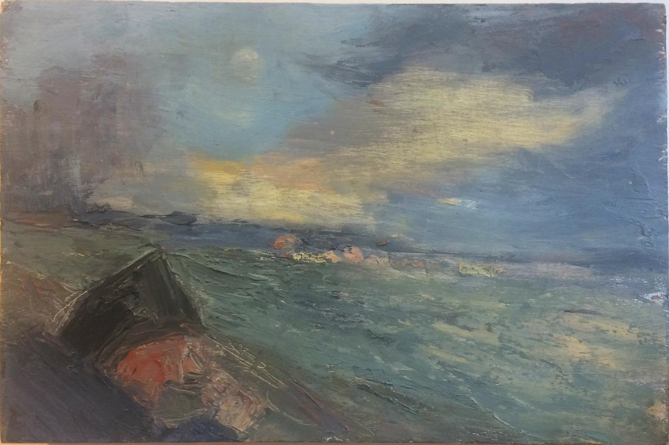 Searay blues, oil on panel, 2017