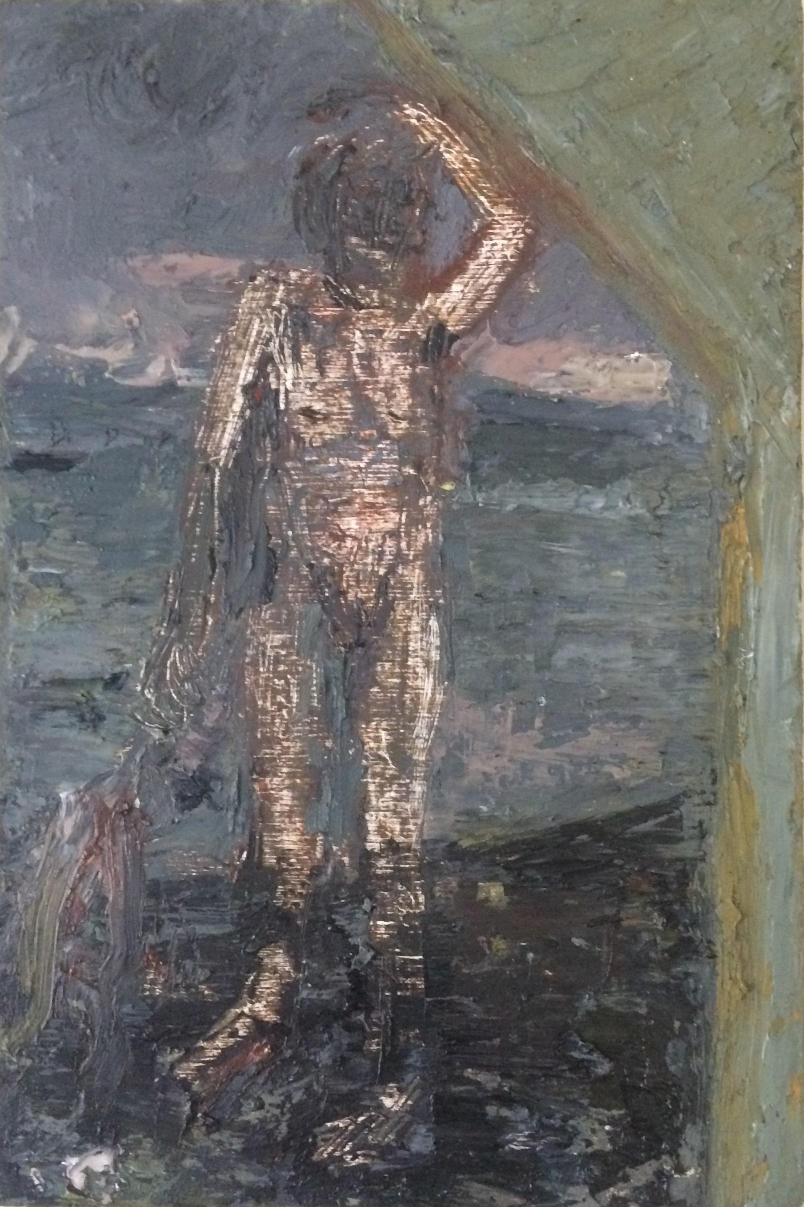 Attic, oil on panel, 2016