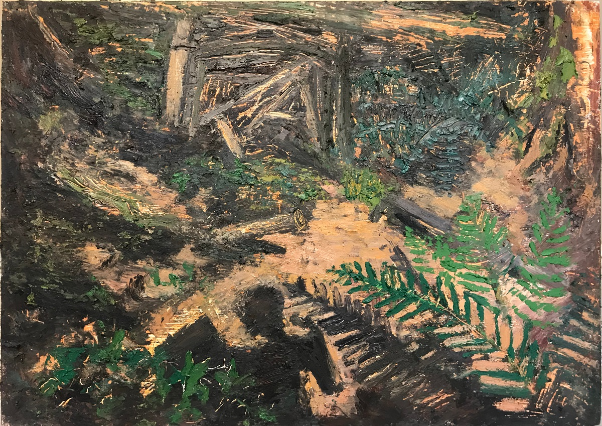 Forest Floor, oil on panel, 17 x 23.75 in., 2018