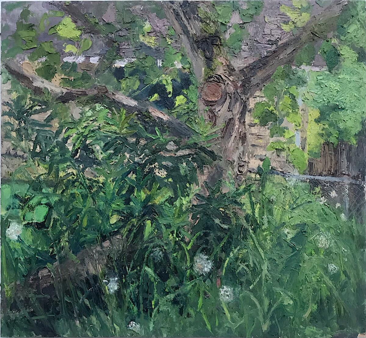 Apple Tree, oil on panel, 30.5 x 33 in., 2019