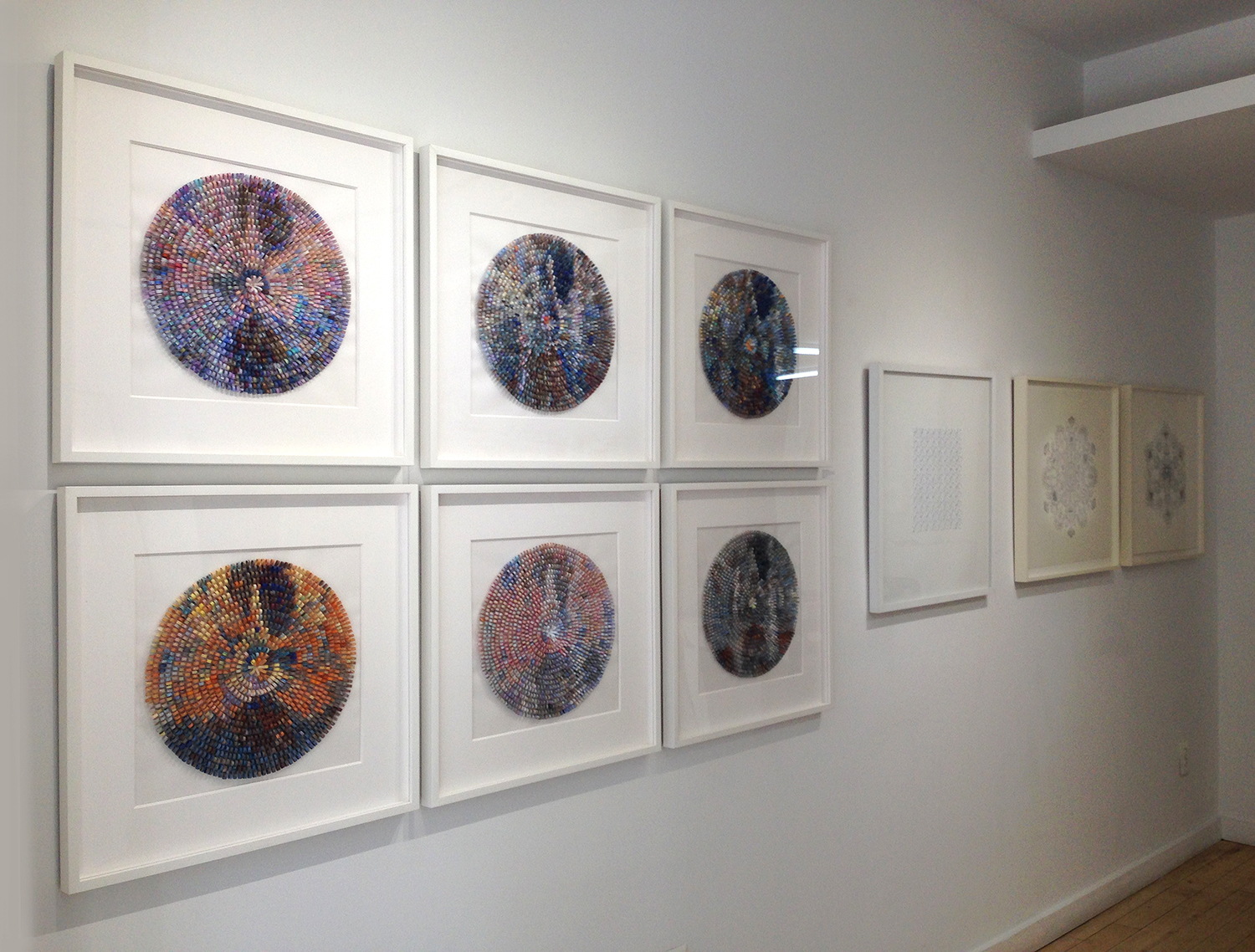 Shredded Impression Series on view at Muriel Guépin Gallery, New York.