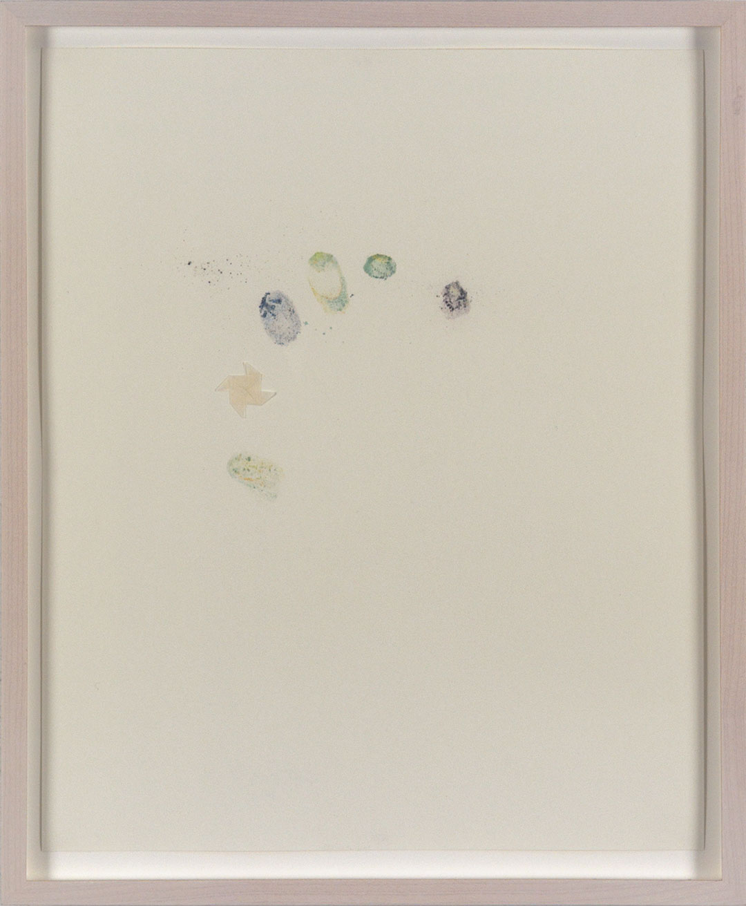 """Self 10, 2005, dry pastel pigment and tracing paper on Strathmore paper. Framed 12.25 x H15"""" x D0.5""""."""