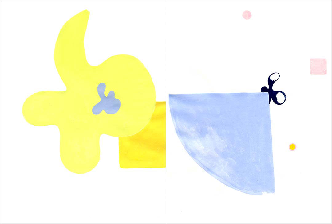 """Talkative (x2) 4, 2004. Gouache on paper, two sheets W9"""" x H12"""" each, side by side."""