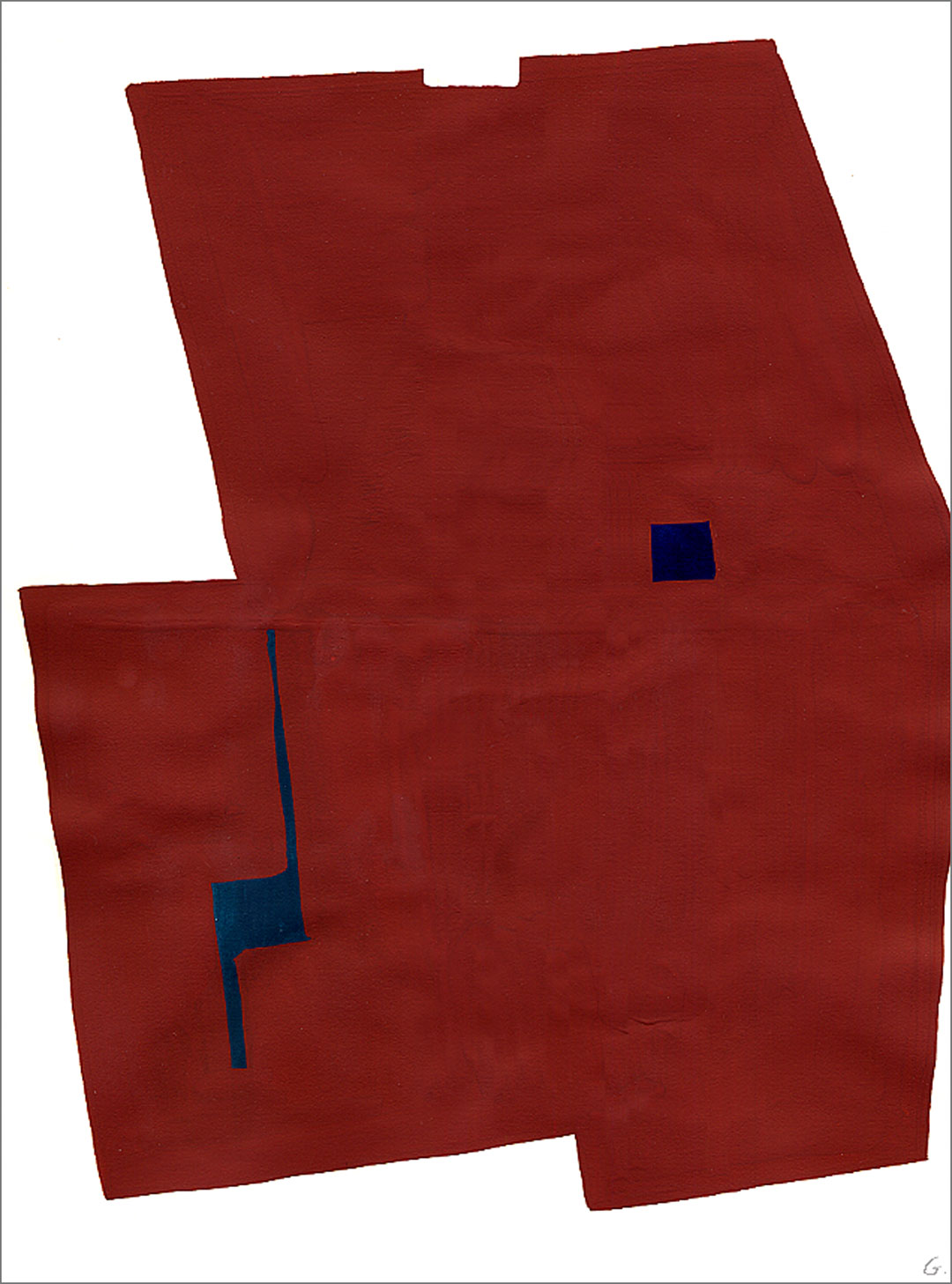 """Fort 2, 2005, W9"""" x H12"""", gouache on paper."""