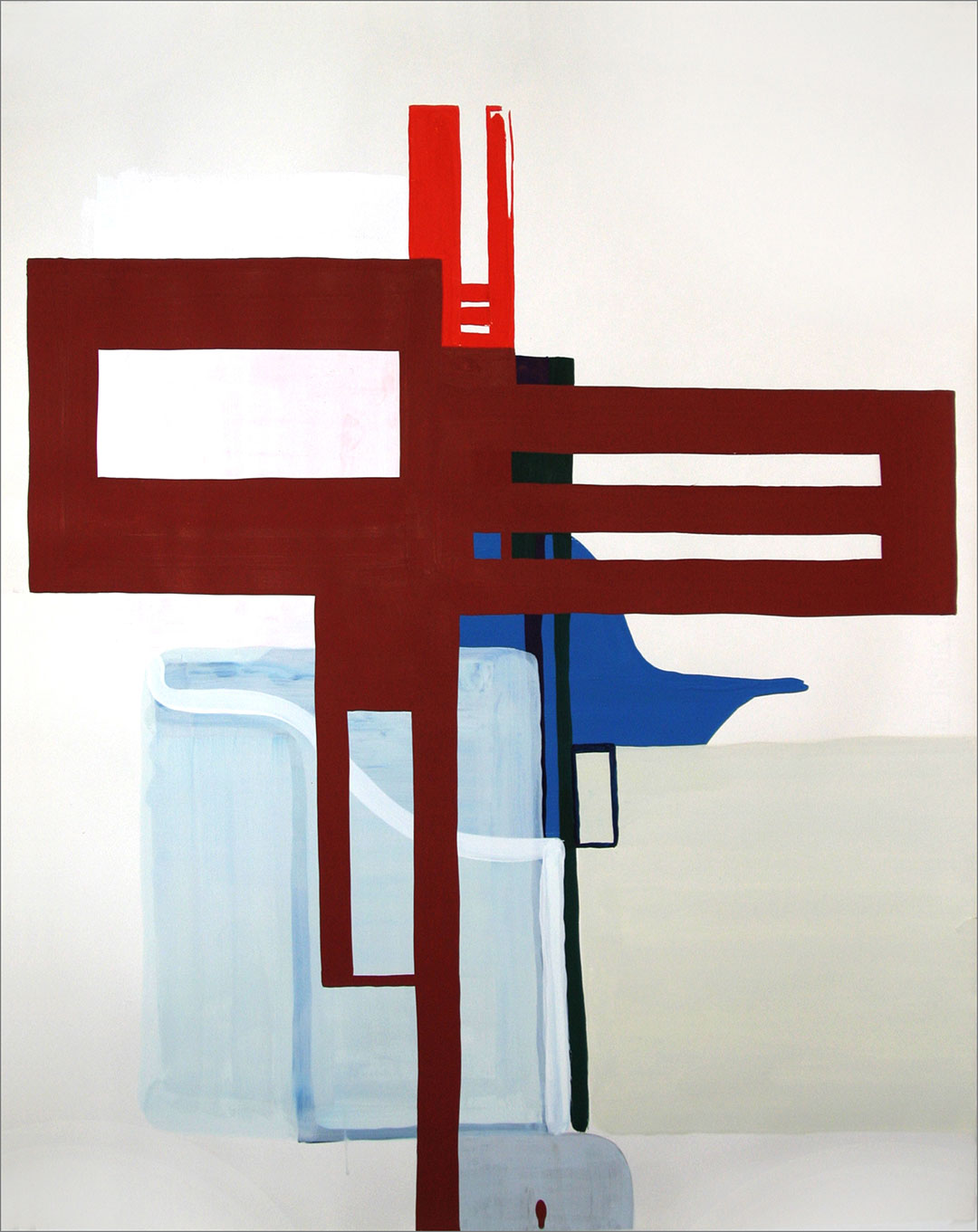 """Fort 10, 2005, W21"""" x H26"""", gouache on paper."""