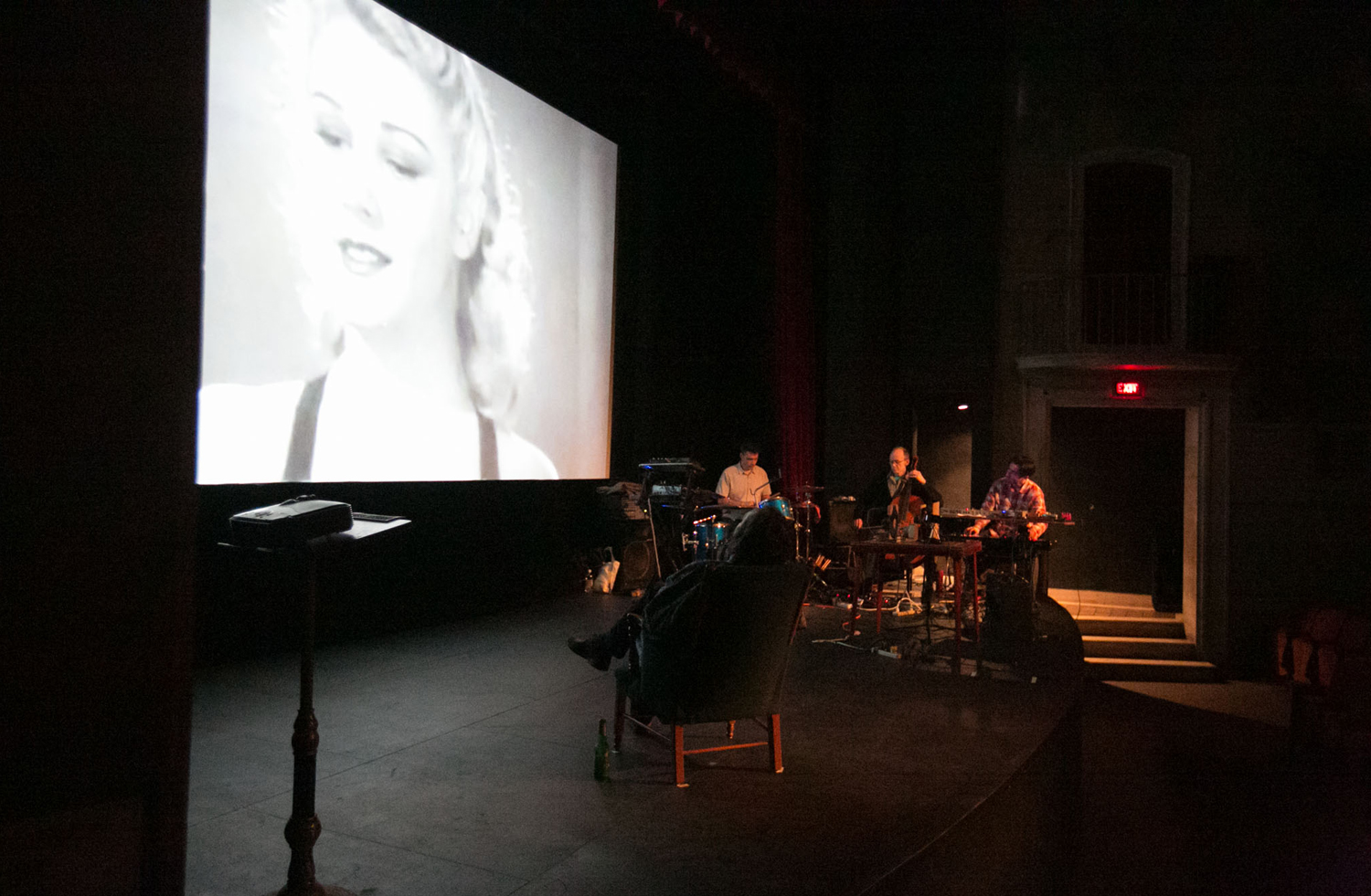 Performance at Cornell Cinema, 2014. All photos on this page by Ed Dittenhoefer.