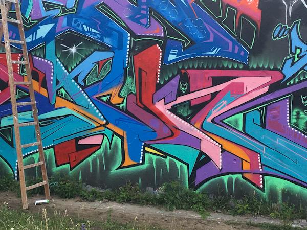 Graffiti at Gleisdreik Park, Berlin.