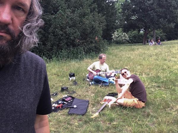 Practicing in Viktoria Park with Bapu and fellow rocker Tristan.