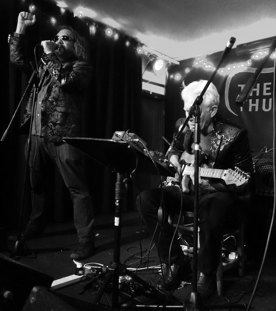 Park Doing and Johnny Dowd. The Thunderbolt; Bristol, UK. April 11, 2019. Photo by Jane Barnes