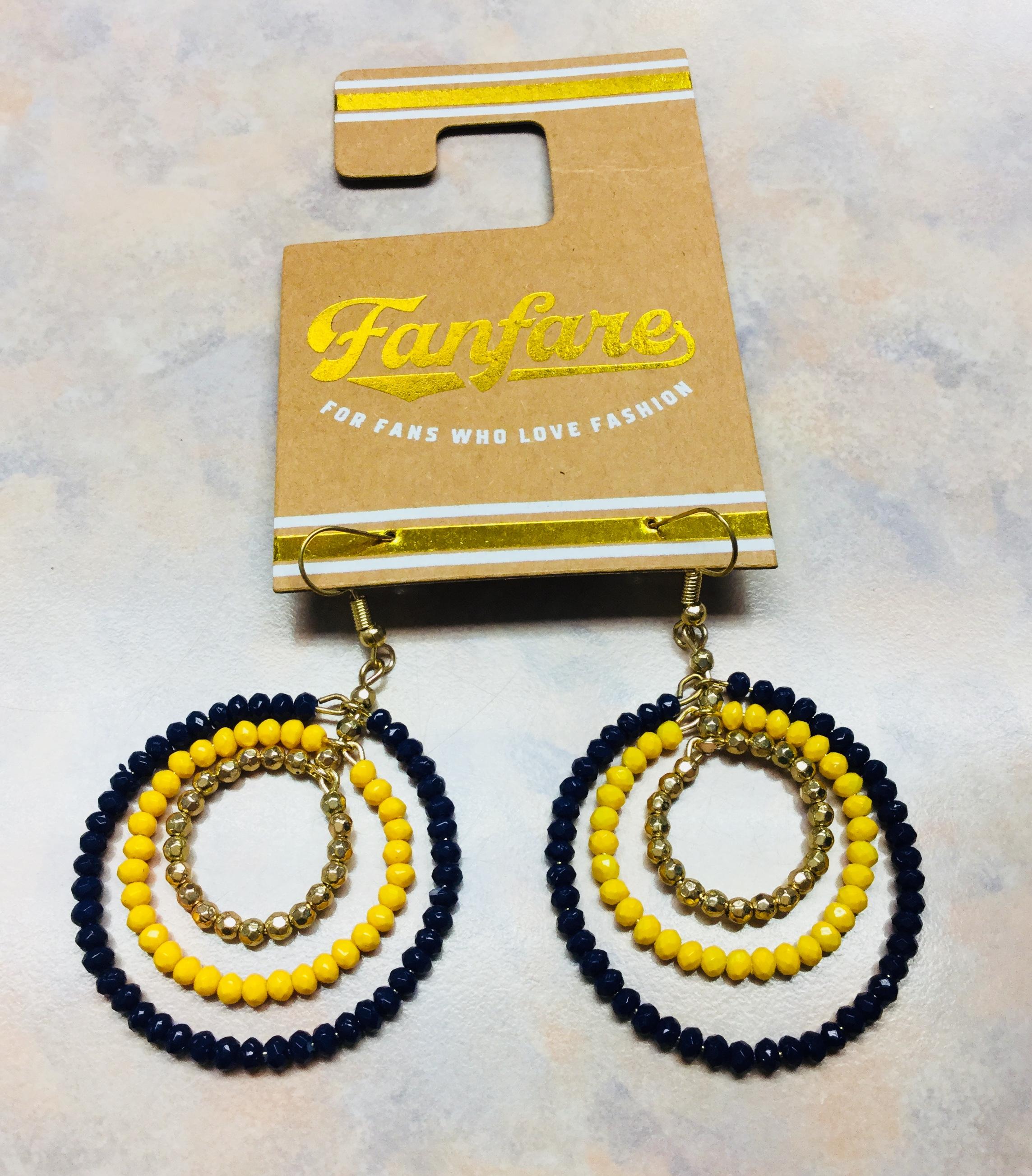 Fanfare Beaded Hoop Earrings Personally Yours
