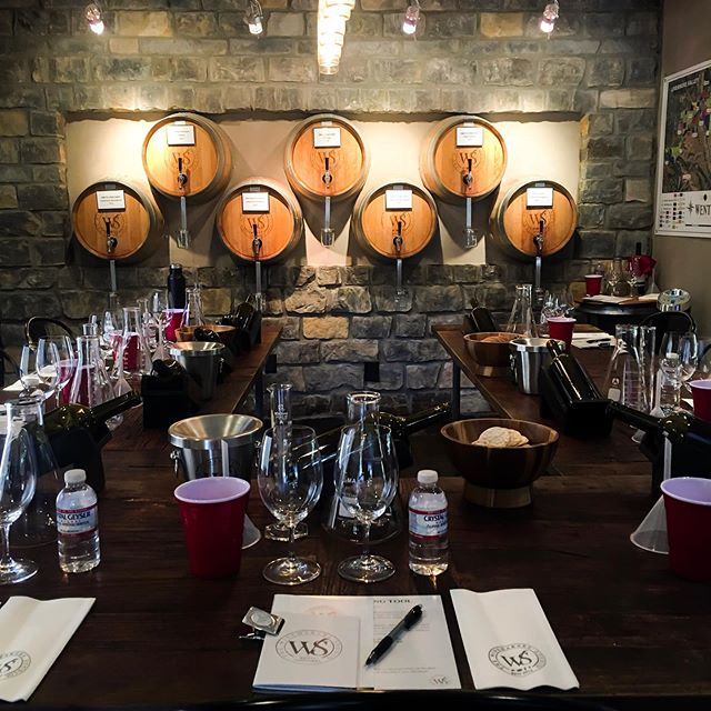 There are worse ways to be working. Wine blending seminar at The Winemaker's Studio.