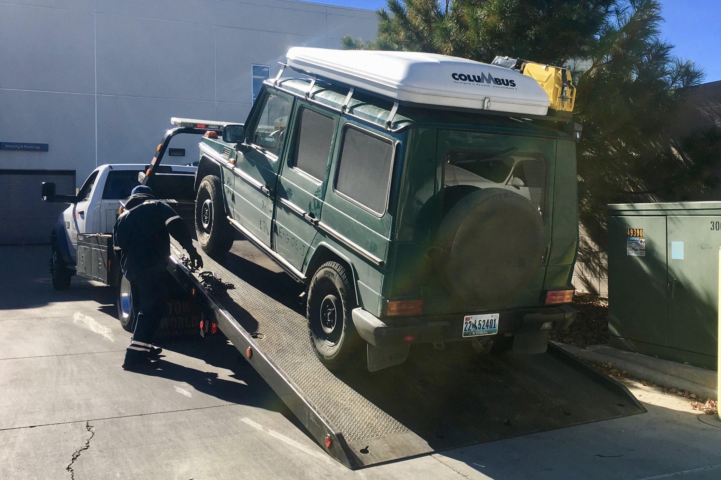 Glenda gets towed...twice!