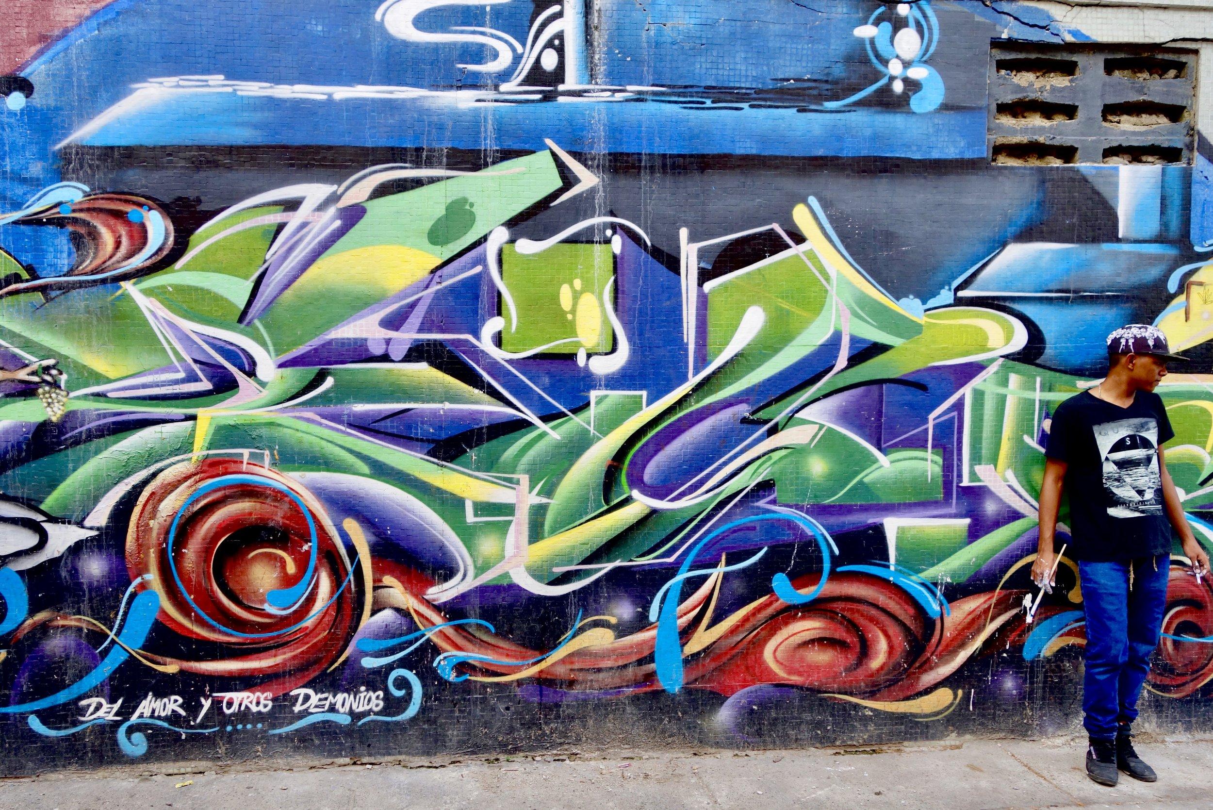 street artist in Cartagena