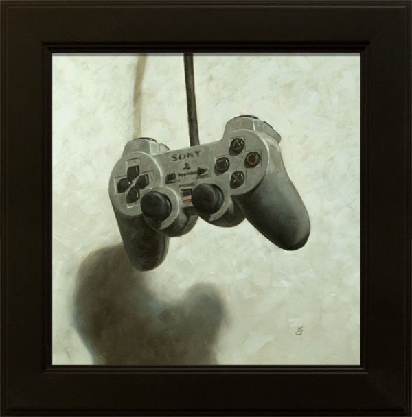 """""""The New Standard, Player Two"""" 8x8"""" oils over acrylic on panel Sold"""