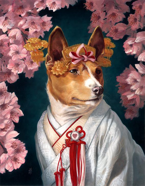 """""""Stevie, Bridal Portrait"""" 11x14"""" oils on panel Sold"""