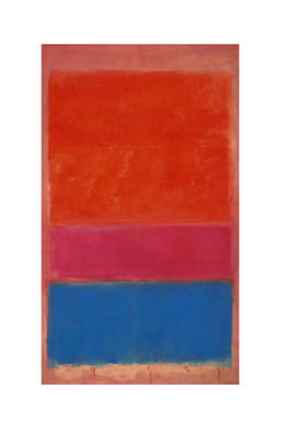"""""""No. 1 (Royal Red & Blue)"""" by Mark Rothko, 1954, sold at auction in 2012 for $75,000,000"""