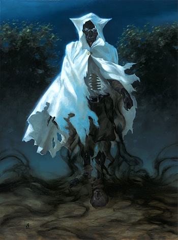 """Stalking Specter, Evolved"" 12x16"" oil on watercolor paper"