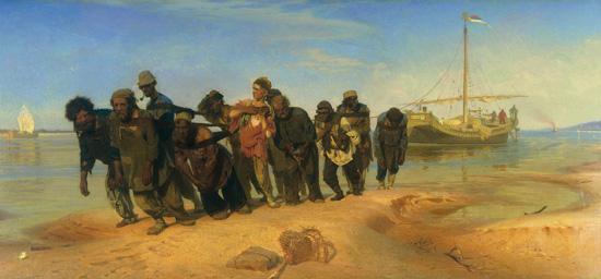 """""""Volga Barge Haulers"""" by Ilya Repin"""