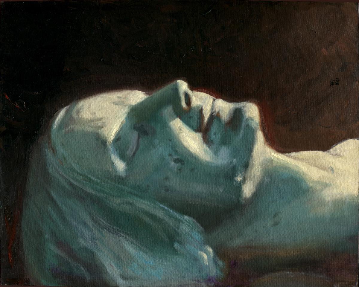 """""""L'Inconnue de la Seine"""" 16 x 20"""" oil on canvas, 1991"""