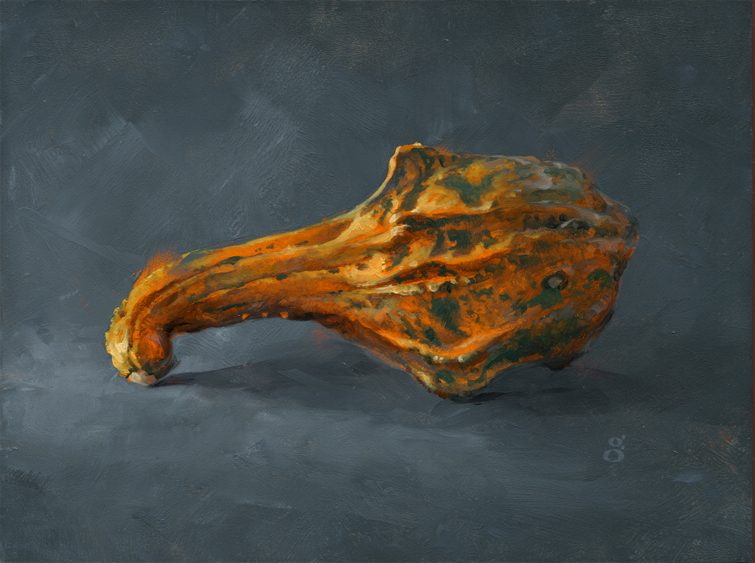 """Gourd 6x8"""" oil on panel over acrylic Original art available    Process video here"""