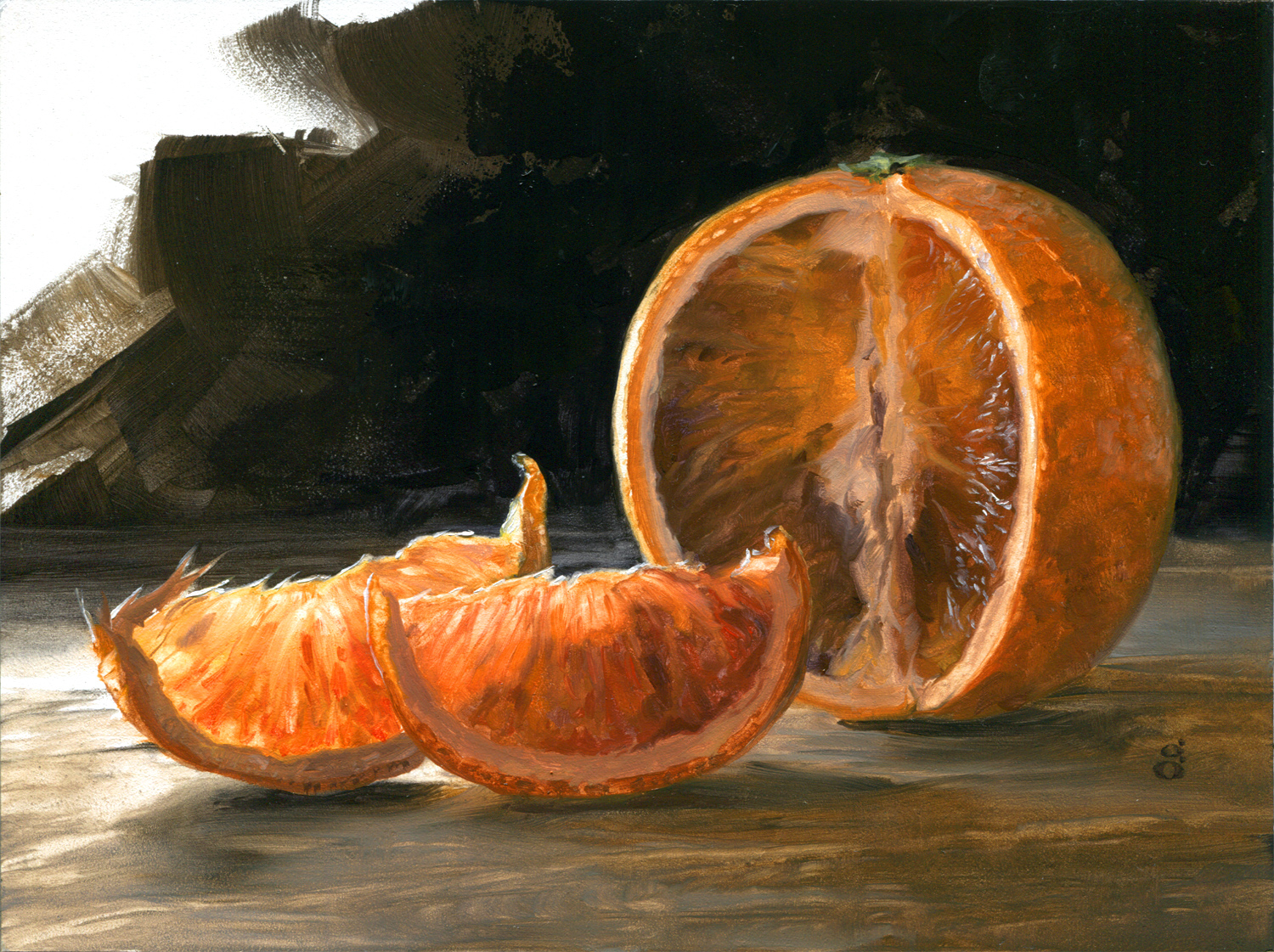 """Blood Orange 6x8"""" oil on panel Currently NFS    Process video here"""