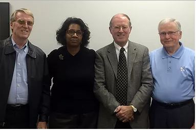 Foundation settlors: Bill Nichols, Rosalind Coleman, Jerry Dodd, and Ken Gregory.