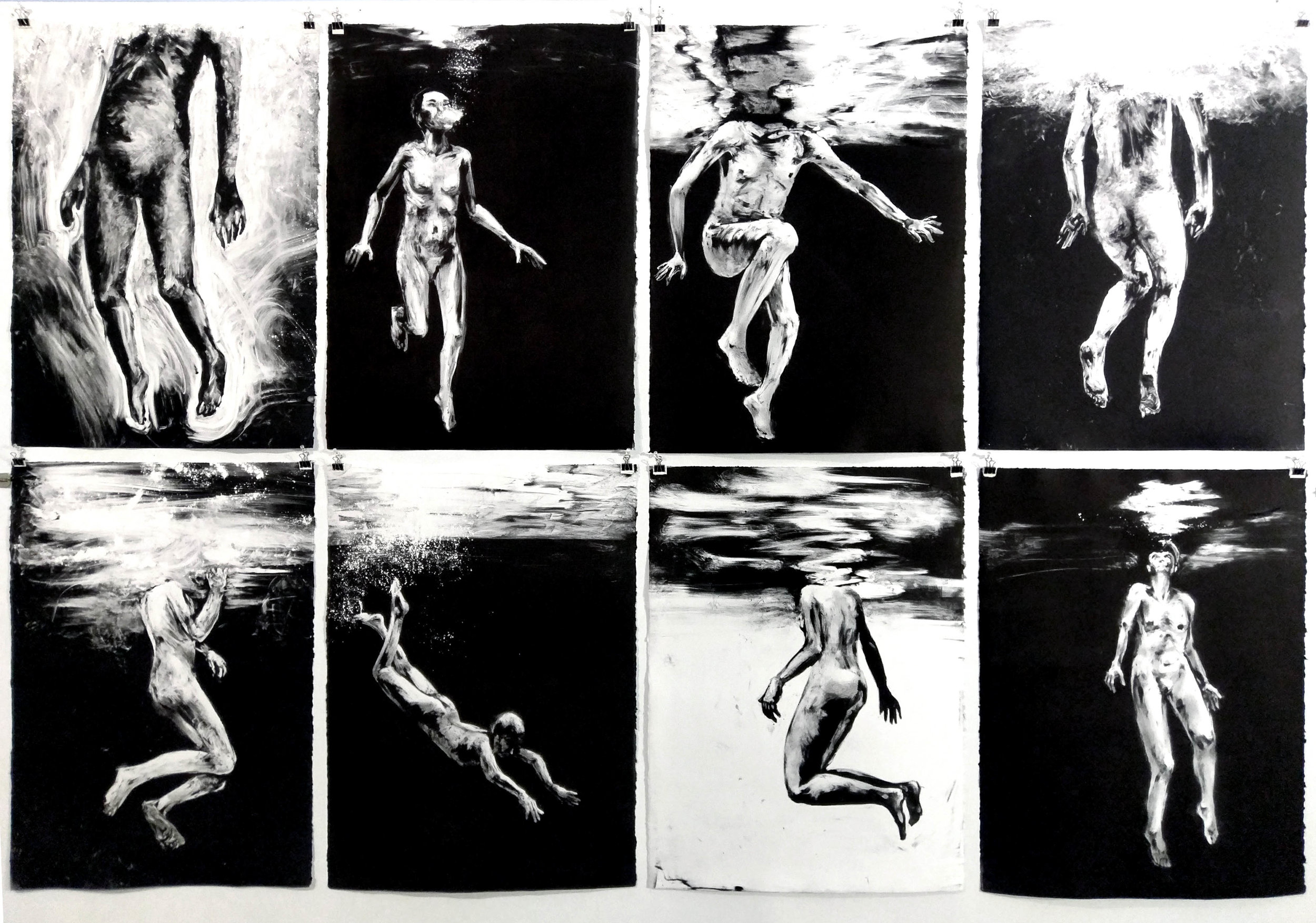 Swimmers-Figure Studies