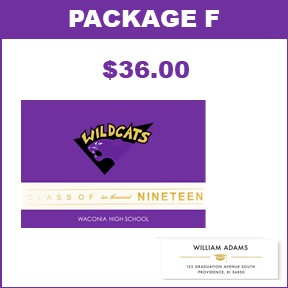 Includes:   20 Wildcat Graduation Announcements  60 Graduation Return Address Labels