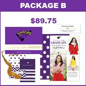 Includes:   25 Wildcat Graduation Announcements  25 Photo Card Grad Party Invites  25 Graduation Thank You Cards  60 Graduation Return Address Labels  2019 Wildcat Mascot Tassel