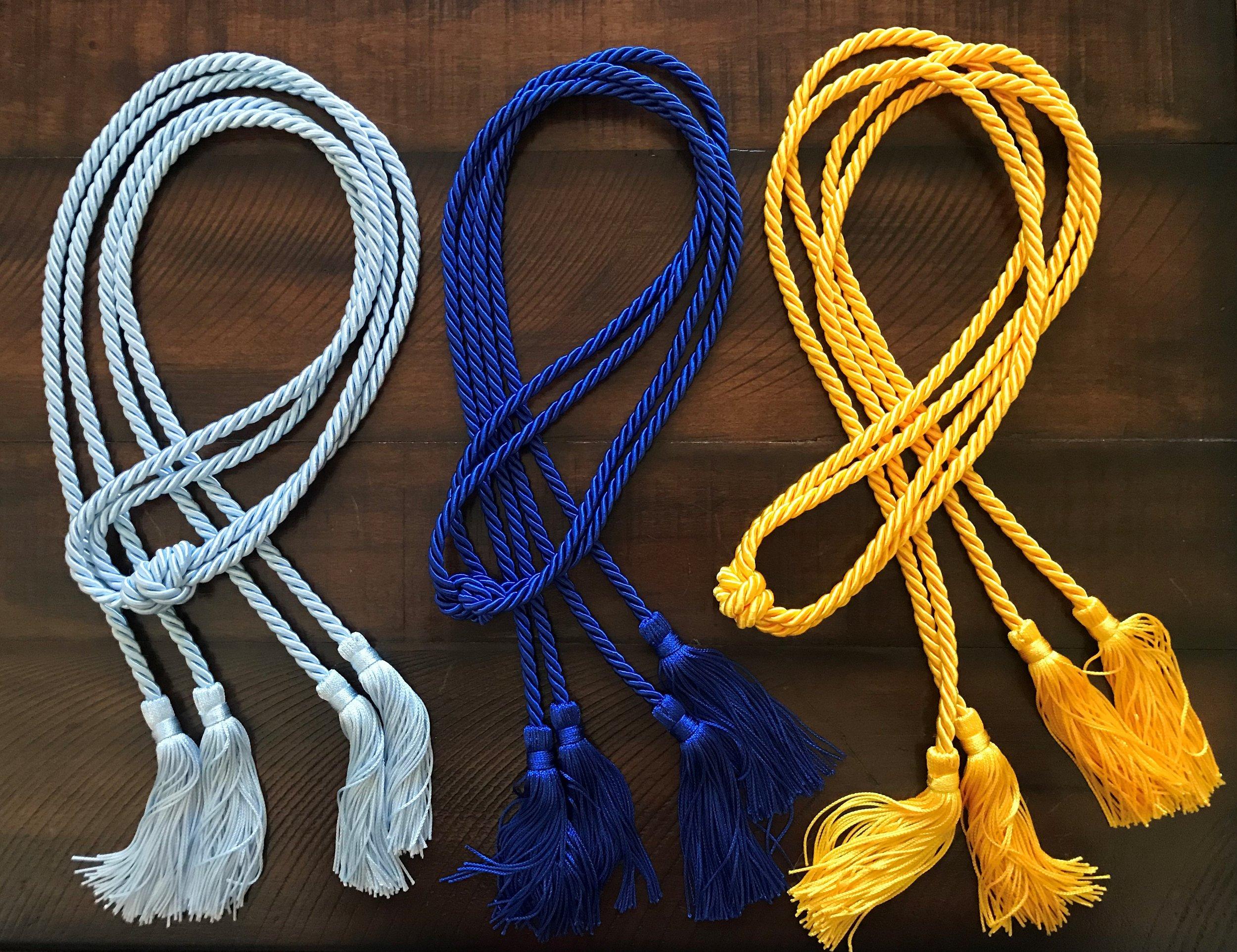 Double Cord / Single-color (Light Blue, Royal Blue, & Gold shown)