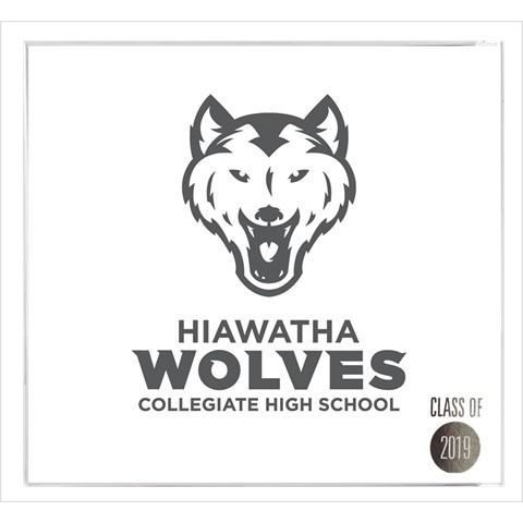 Hiawatha Collegiate High School announcement - front cover view.