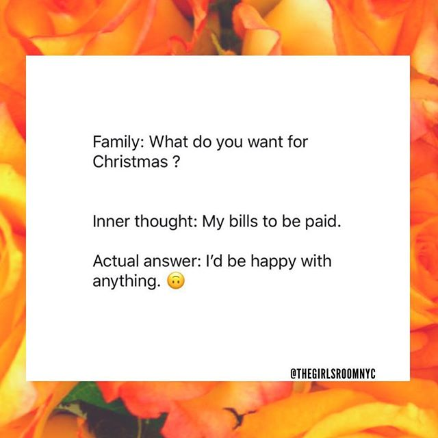 Pay a bill for Christmas, why is this not a thing yet? #theoprahroseshow 🌹🌹🌹 RP: @thegirlsroomnyc