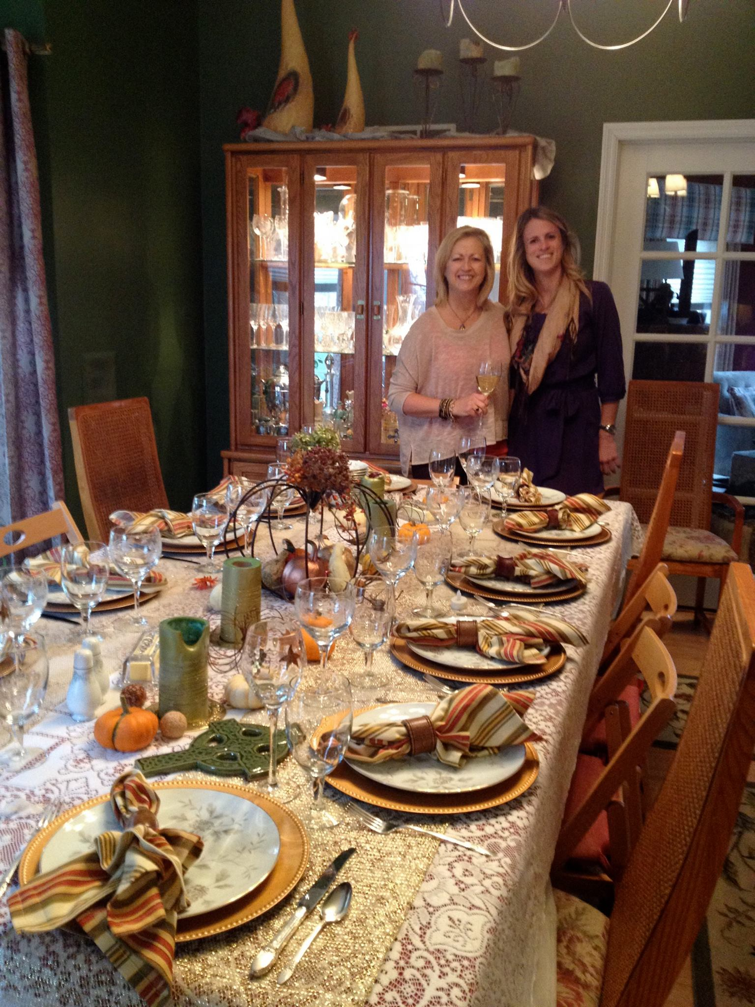 Mother Melinda! - And her fabulous Thanksgiving table spread :)