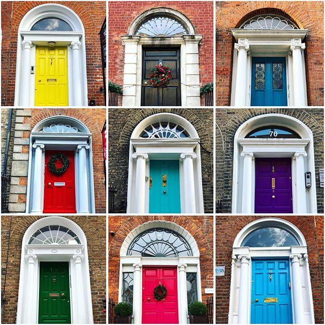 The colourful doors of Dublin's iconic Georgian townhouses #georgiantownhouse #doorsofdublin #dublin2 #dublincity