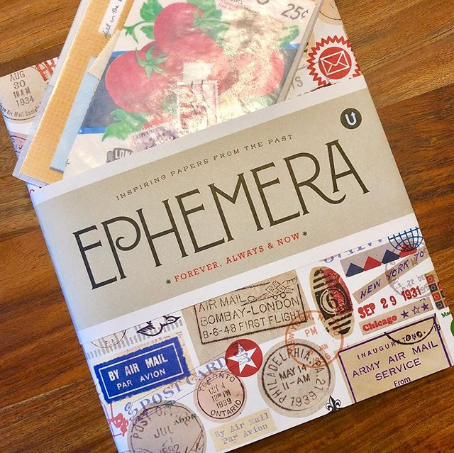 My copy of #Ephemera arrived today! This hot-off-the-press book was designed here in Canada by @uppercasemag — and it came with a little envelope containing vintage stamps and other ephemera! 🤗 #ephemerabook #madeincanada #vintagedesign #referencebook #designinspiration