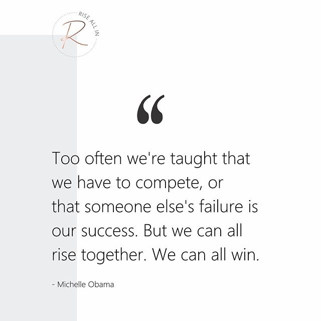 👏🏻 Hard to add much else to Michelle Obama's wise words. . But we'll just say this: self-trust, collaboration, and an abundance mindset win. Every. Time. 🥇 . Surround yourself and collaborate with people who are on that same vibration to create your own abundant reality, and watch your results grow exponentially and your dreams unfold better than you ever thought possible. 😍💗 #yourchoice #designyourlife . . . . #riseallin #soulpreneur #businessinspiration #feminineleadership #womenentrepreneurs #entrepreneurship #business #branding #startuplife #digitalmarketing #socialmediamarketing  #prosperity #righttime #lifedecisions  #bethedifference #authenticwomen #womenaroundtheworld #womeninbusiness #femaleceo #empoweredwoman #girlboss #herincrediblemindset #womanceomindset #womansupportingwoman #womanceo #ladybosses #bossbabe #soulpreneur