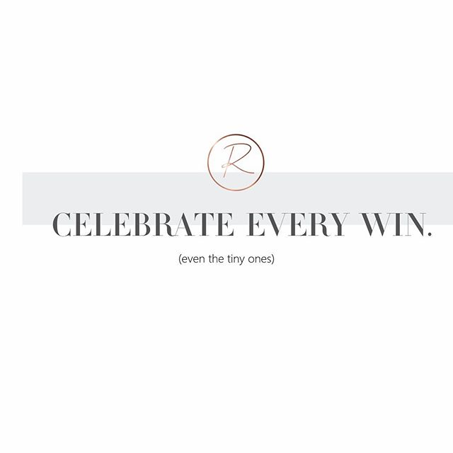🙌🏻 What are you celebrating today? . Let's be honest, most people are not great at celebrating the little wins — women, much less. . And sometimes, just getting your teeth brushed and indulging in a 5-minute shower while the baby sleeps can be a massive win! . I remember those days with my little ones where something as simple as a shower became a big deal. 🙈🤦🏻‍♀️ #thestrugglewasreal . Dealing with depression several years ago, sometimes a day at work without silent tears hoping nobody would see it while I stared at the computer trying to do my work was a massive win, too. Heck, even just showing up instead of succumbing and staying in bed crying all day like I often felt I needed to do... that in itself was huge. Because I was showing up. As hard and challenging as it was. Somehow I still was showing being courageous enough to get out of bed, get ready, and show up. Even if my productivity wasn't the best. Even if my memory was suffering. Even if my performance suffered because of that gray cloud hovering over me and dampening my mood, outlook, and the way I interacted with others or took in their words... I was still choosing to show up, and that was a big win. . It didn't feel like it at the time. In fact, it took me all these years to even recognize that. But that's exactly what those choices were, however mundane they may have appeared, and however much most of us take them for granted on a daily basis: they were wins. 💪🏻🏆 . Today, no longer having little babies fully dependent on me for their every need, and thankfully being mentally healthy, those things have sort of slipped back into the mundane realm... . But there are still little wins full of meaning, of a different kind, happening everyday in my life. Because I'm choosing to show up. Even when it's hard. And I am willing to bet it's the same for you. . So give yourself a little more credit. Celebrate the little wins as much as the big ones. Because, sometimes, the little ones are truly the big ones anyway, and they matter just as much, if not more. . So, tell me, what wins are you celebrating today? 👇🏻 Tag a friend you want to celebrate as well and tell them why. ❤️ #riseallin #gratitude