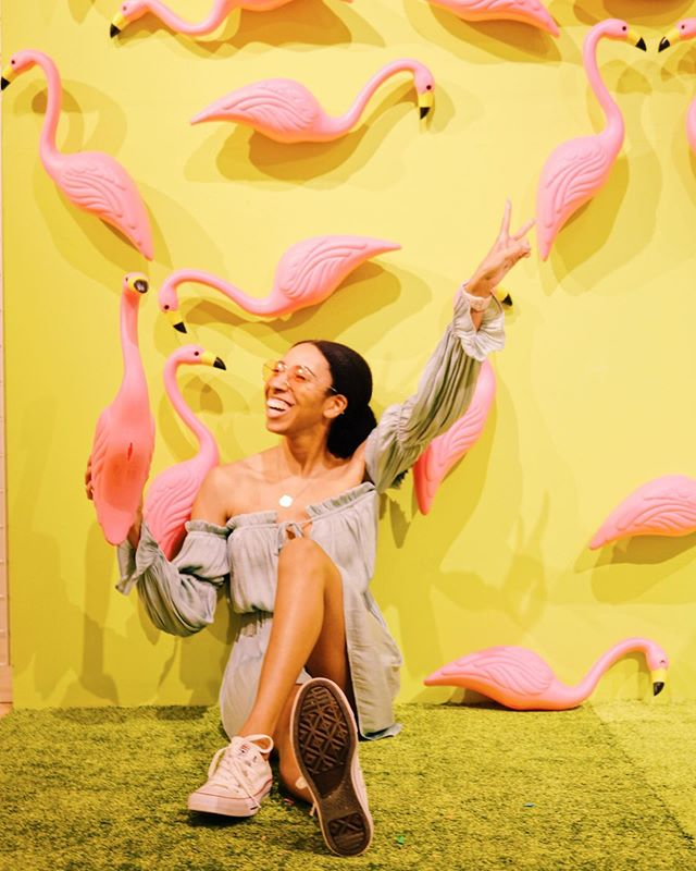 Y'all don't understand how happy I was to see this flamingo wall at @snap_151 😍💕 Fun fact- they're one of my favorite animals. My dream vacation is to visit them in Aruba 🏖. But anyways y'all there are so many other cute installations at Snap 151. Hurry and check them out while they're still here! 💖 . . . . . #ootdfashion #ootdinspo #instafashion #styleinspo #dfwblogger #fortworthblogger #dallasblogger #lovethislook #darlingmovement #fashiononabudget #frugalfashion #lookforless #styleonabudget #budgetfashionista #everydayfashion #imwearing
