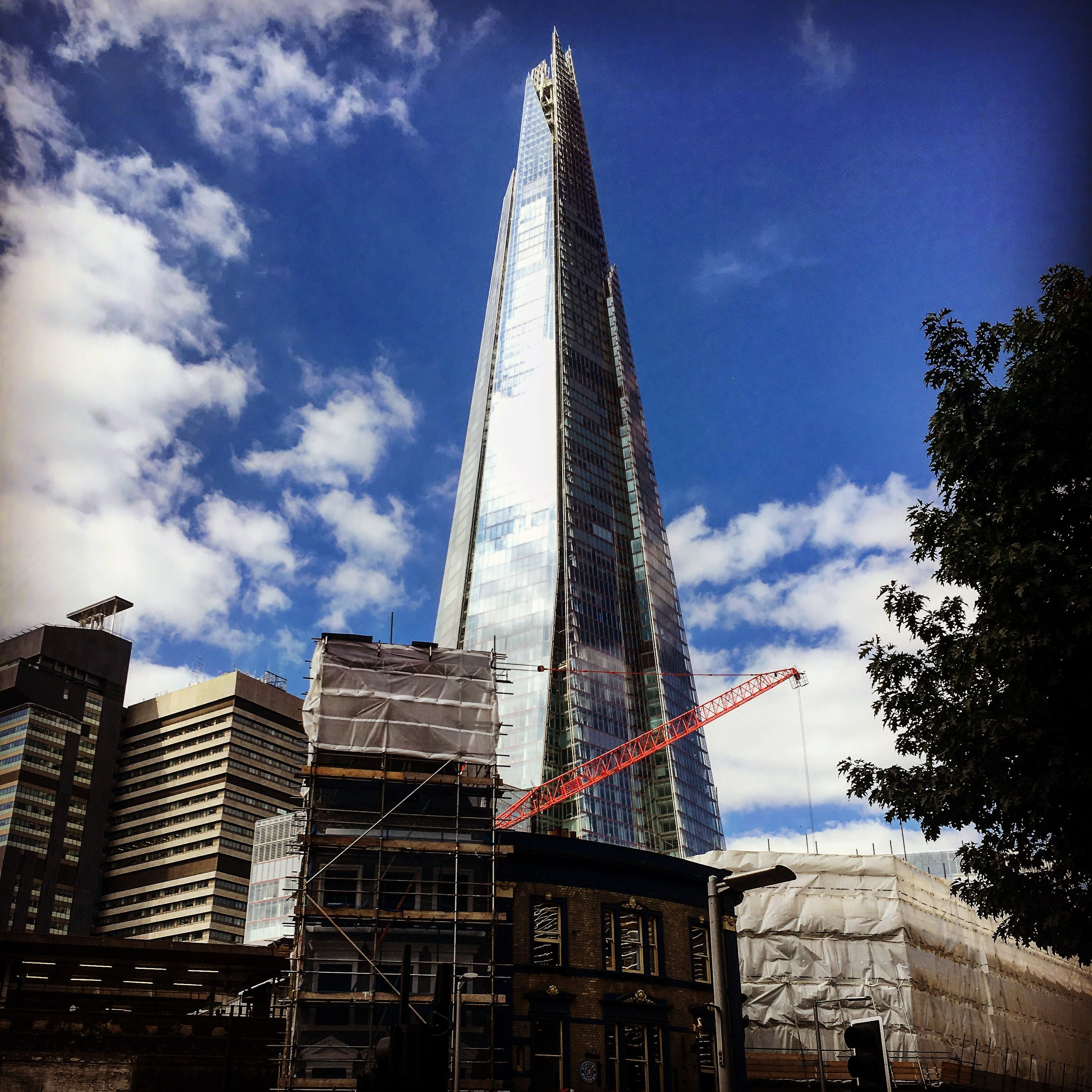The Shard.. - London, 11 April, 2016.Shot with an iPhone 6s.