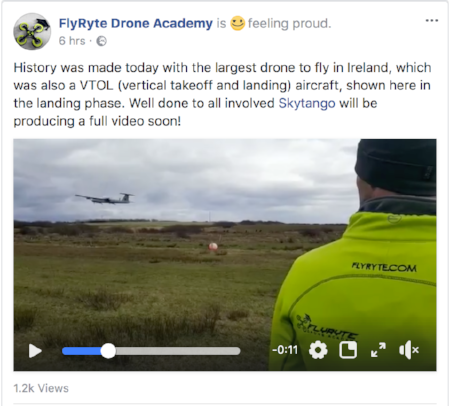 Thanks  FlyRyte Drone Academy  for use of image from their  Facebook Page
