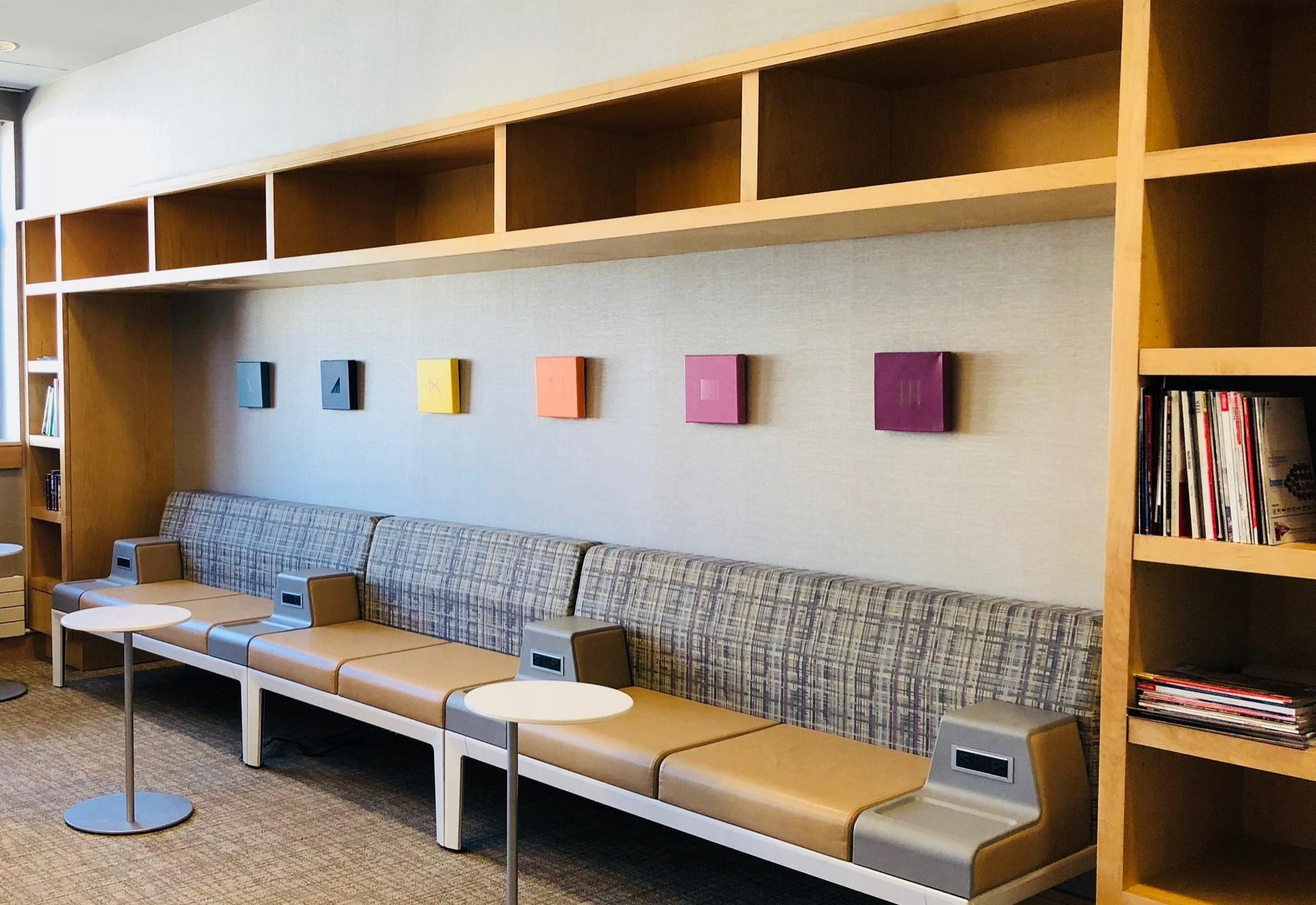 Installation View: Maggie Avolio, Thread Drawing Series, 2017-18