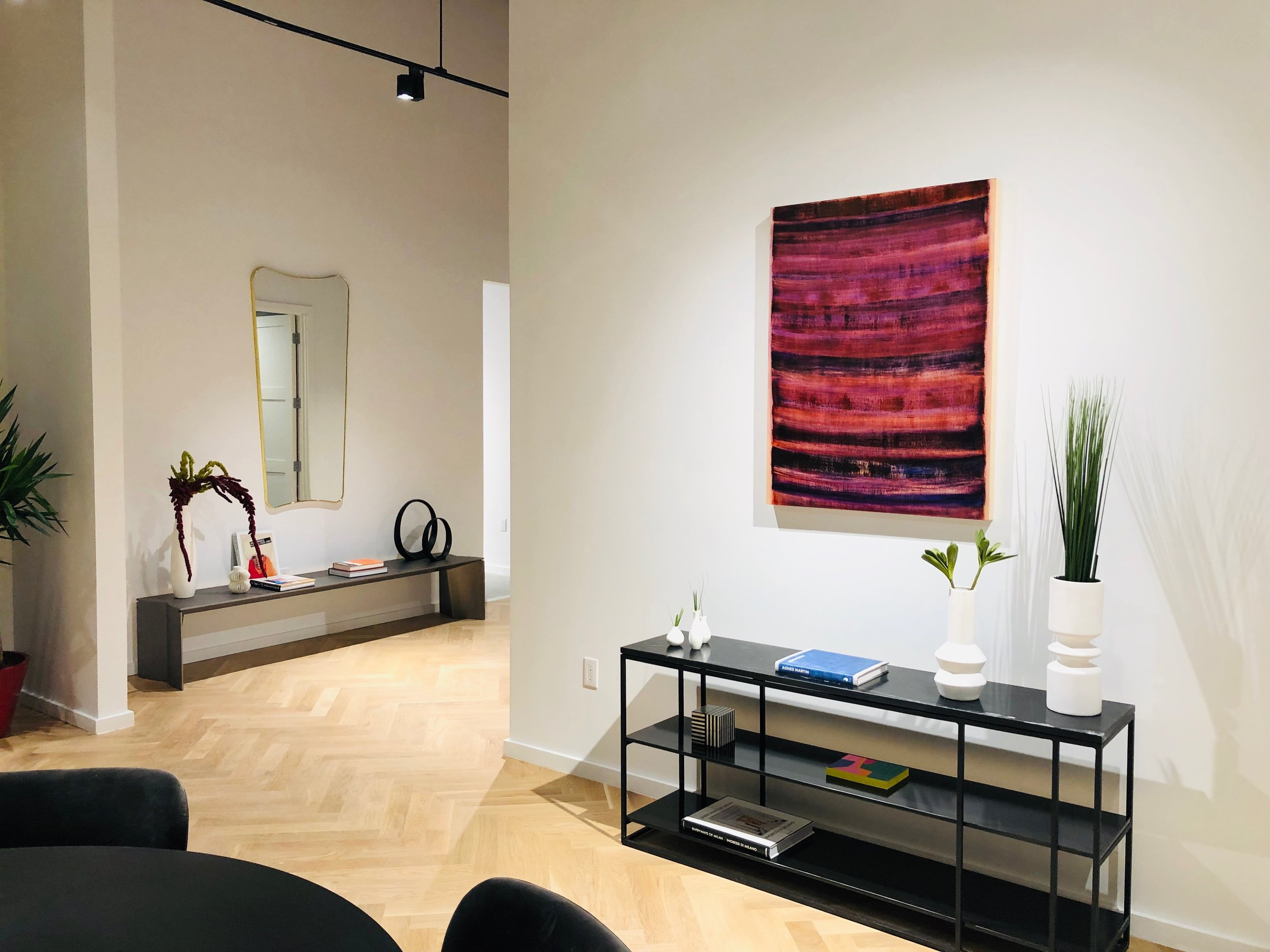 The Museum House Sales Gallery: Installation View with artwork by Emily Berger