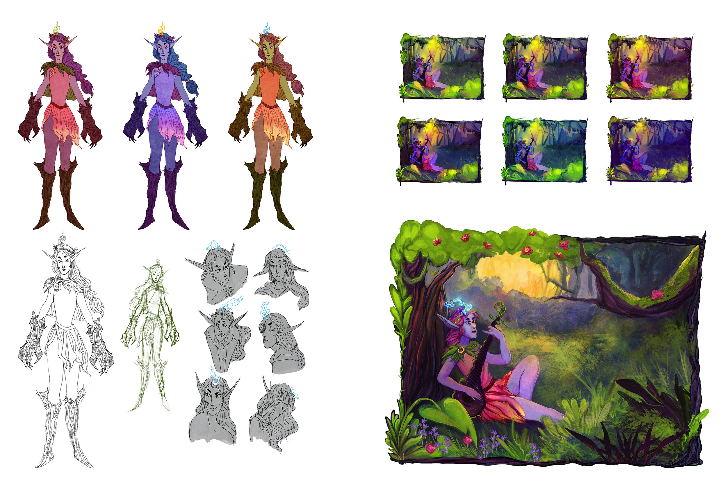 Character Design - Woodland Elf