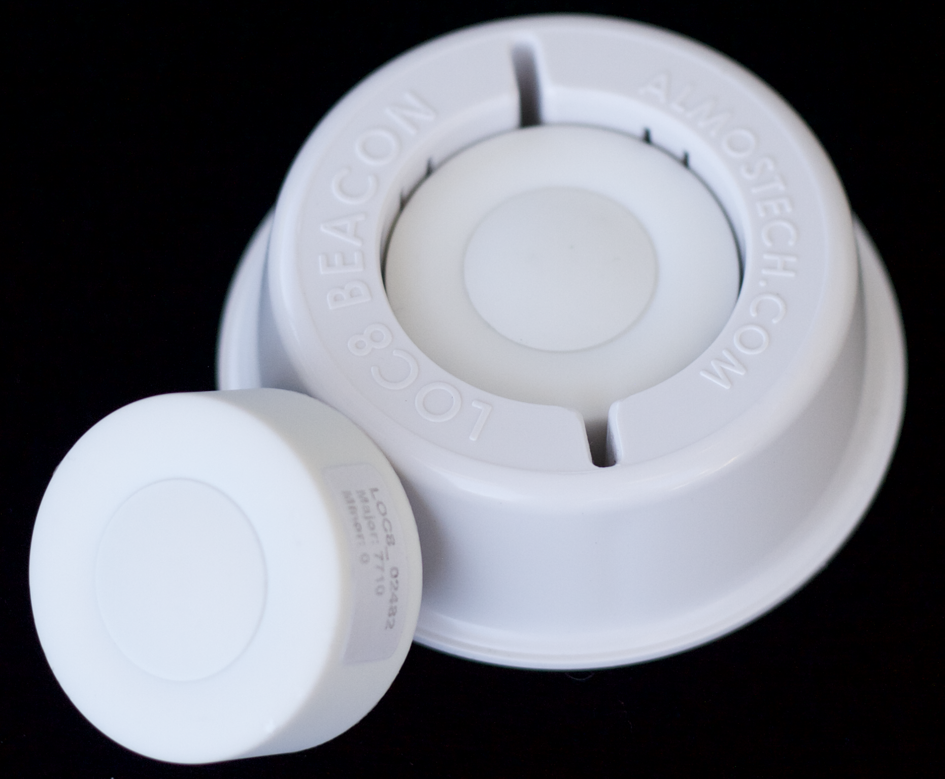 BLE Beacon in LOC8 Custom Surround for quick and easy installation. No more table modifications.